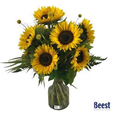 Boeket zonnebloemen zonnig