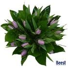 Boeket tulpen roze