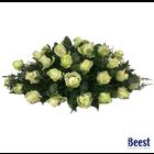 Rouwstuk ovaal met rozen