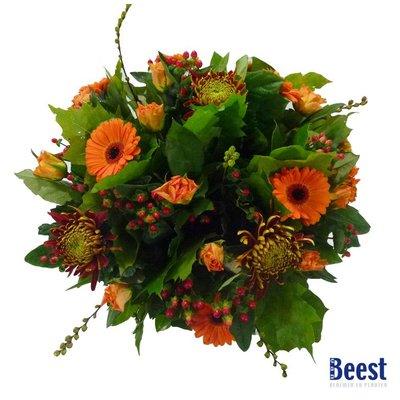 Herfstboeket oranje