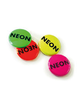 25 mm Button neon effect vanaf