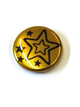 31 mm Button metaal effect vanaf
