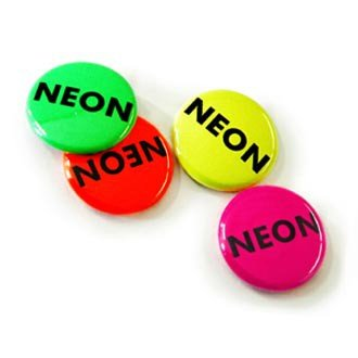 37mm Button neon effect