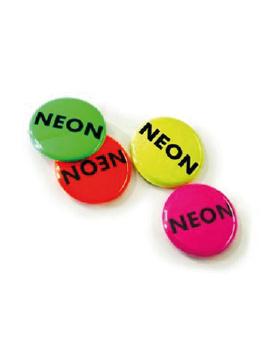 100 mm button neon effect vanaf