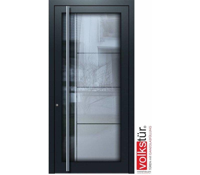 Weishaupt Aluminium Ganzglas Haustür Modell Entra Line 5301