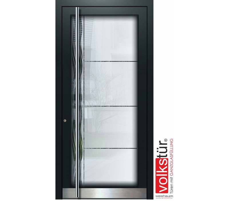 Weishaupt Aluminium Ganzglas Haustür Modell Entra Line 5304