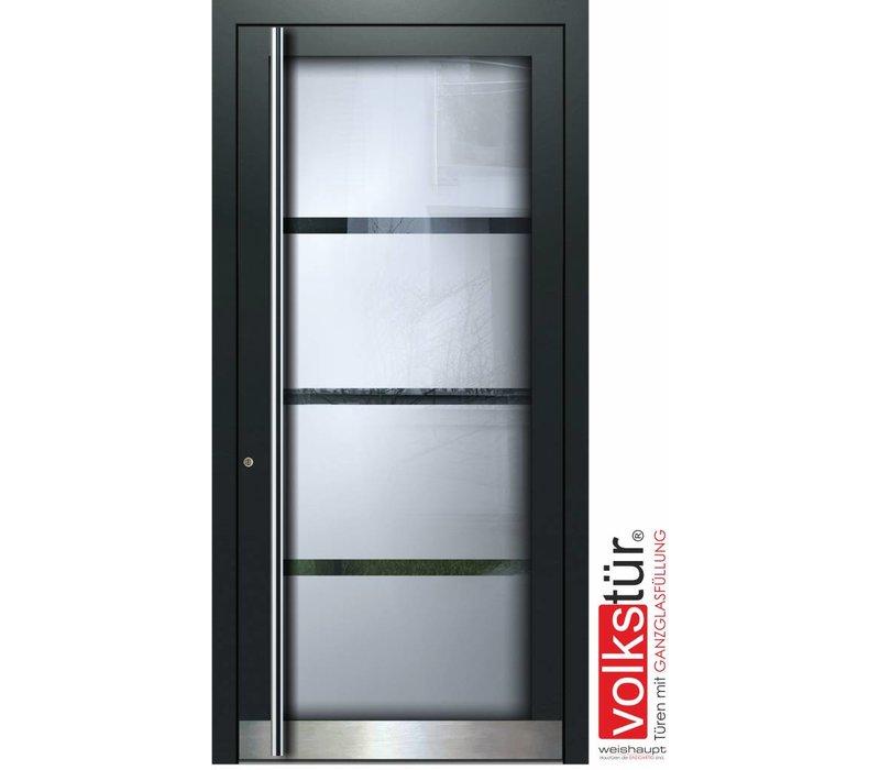 Weishaupt Aluminium Ganzglas Haustür Modell Entra Line 5306