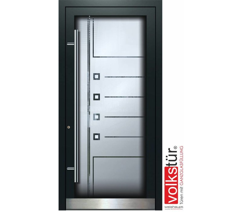 Weishaupt Aluminium Haustür mit Ganzglas Modell Entra Line 5309