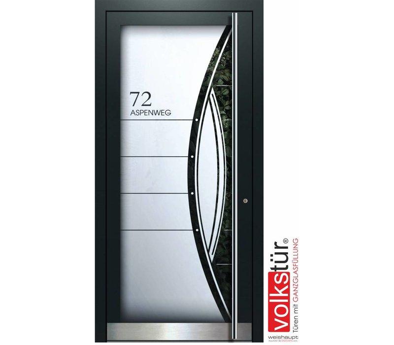 Weishaupt Aluminium Ganzglas Haustür Modell Entra Line 5312
