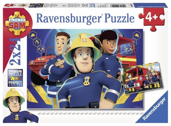 Ravensburger Puzzels Ravensburger Puzzel Brandweerman Sam Helpt je uit de brand 2x24 stukjes