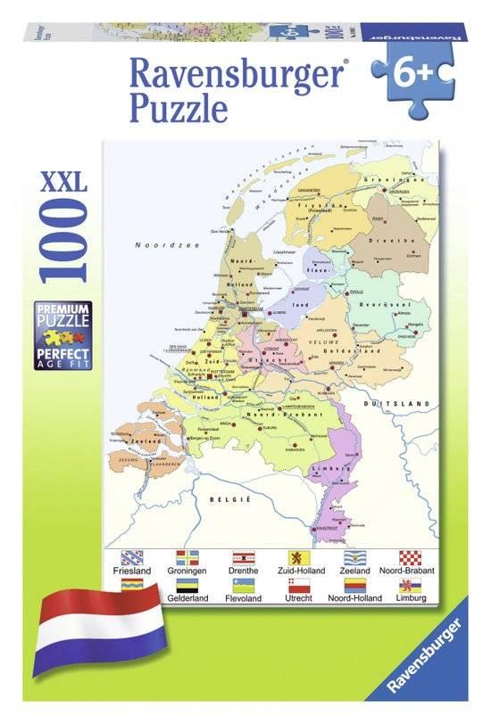 Ravensburger Puzzels Ravensburger Puzzel Nederland kaart CITO 100 stukjes