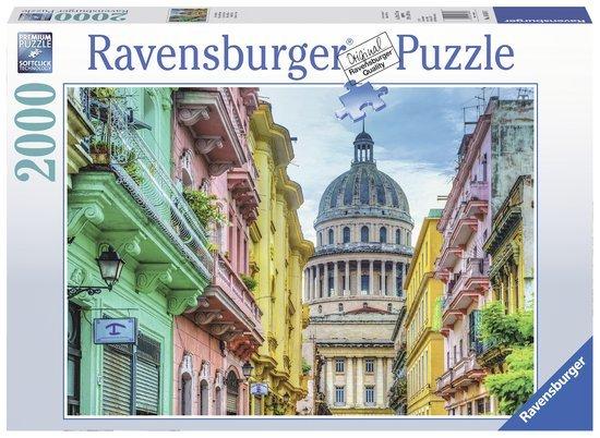 Ravensburger Puzzels Ravensburger Puzzel Kleurrijk Cuba 2000 stukjes