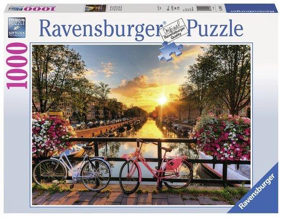Ravensburger Puzzels Ravensburger Puzzel Fietsen in Amsterdam 1000 stukjes