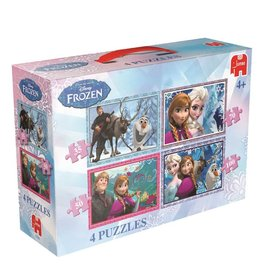 Disney Frozen Jumbo Puzzels 4 In 1