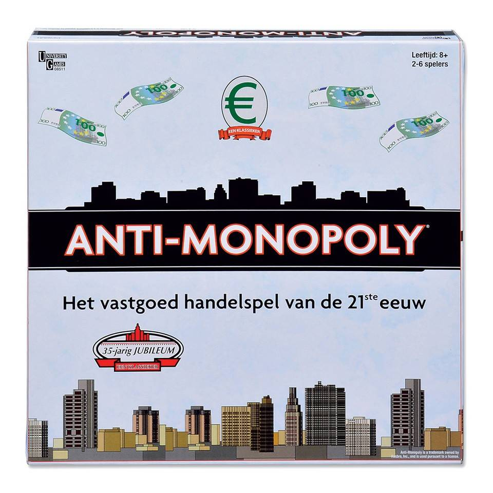 University Games Anti Monopoly Bordspel