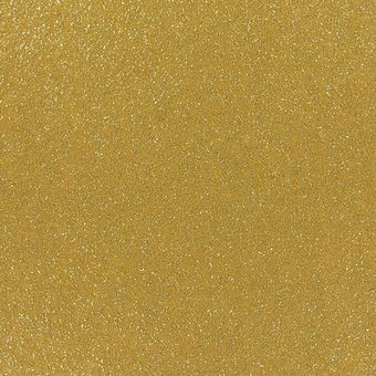 glitzernder Flachfilz, gold