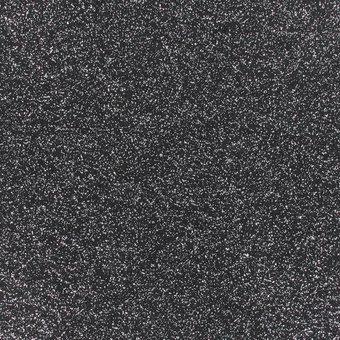 glitzernder Flachfilz, schwarz-silber