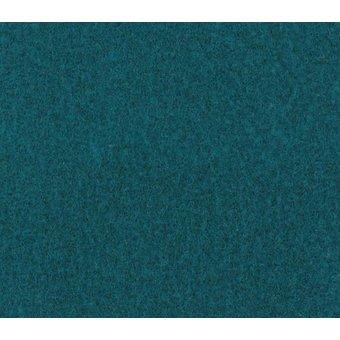 Flachfilz Teppich türkisblau