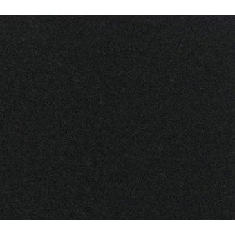 Flachfilz Teppich schwarz