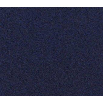 Flachfilz Teppich marineblau