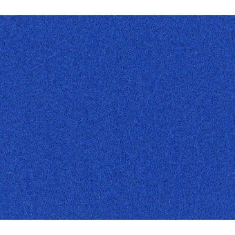 Flachfilz Teppich leuchtblau