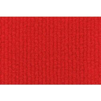 Rips Teppich Basic leuchtrot
