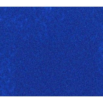 Flachfilz Teppich königsblau