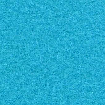 Flachfilz Teppich Azurblau