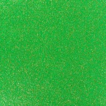 glitzernder Flachfilz, grün-gold
