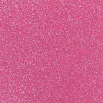 glitzernder Flachfilz, pink-silber
