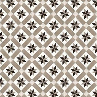 Motivteppich Mosaikfliesen Beige