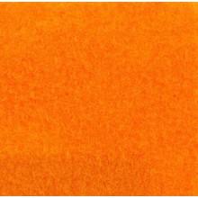 Velours Teppich orange