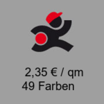 Flachfilz Teppich, Rolle 2m x 40m, mit Folie