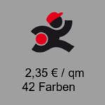 Flachfilz Teppich, Rolle 4m x 50m, mit Folie