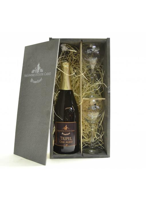 Oude Caert Beer Gift 1x75cl + 2xgl