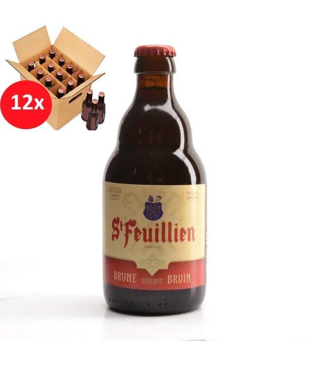 SET VAN 12    l-------l St Feuillien Bruin 12 Pack