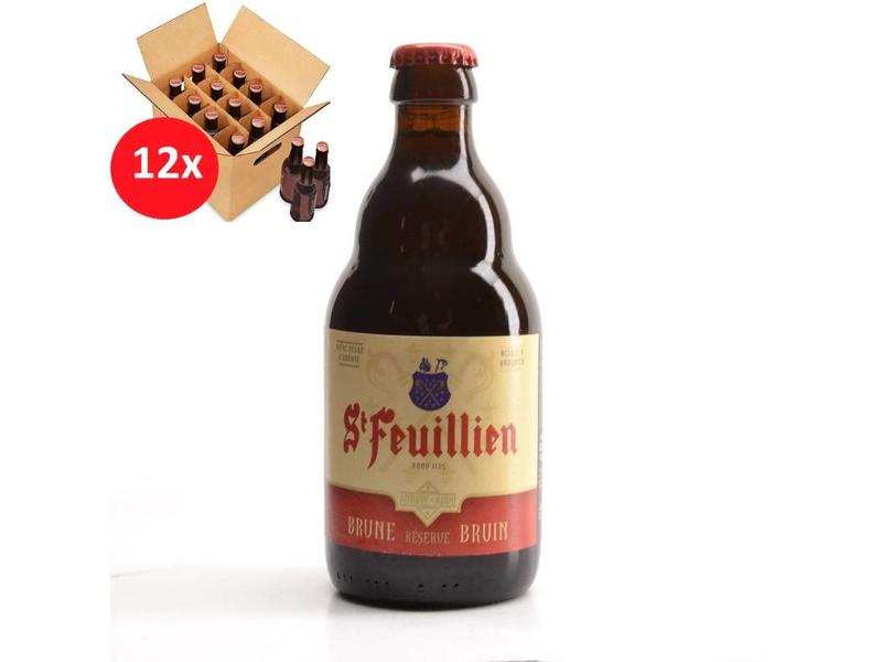 T St Feuillien Brown 12 Pack