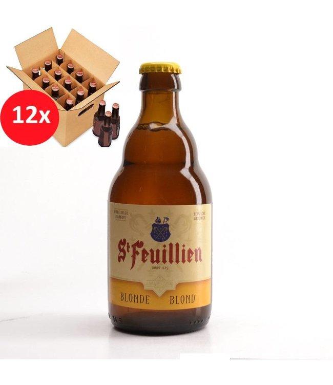 SET VAN 12    l-------l St Feuillien Blond 12 Pack