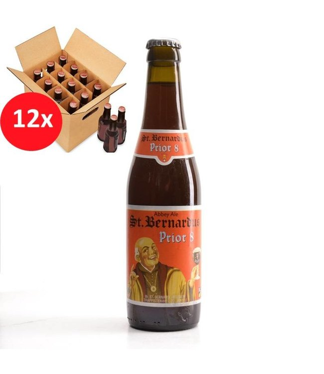SET VAN 12    l-------l St Bernardus Prior 8 12 Pack