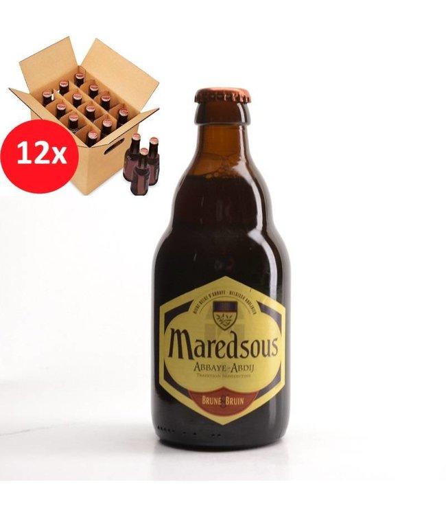 SET VAN 12    l-------l Maredsous Bruin 12 Pack