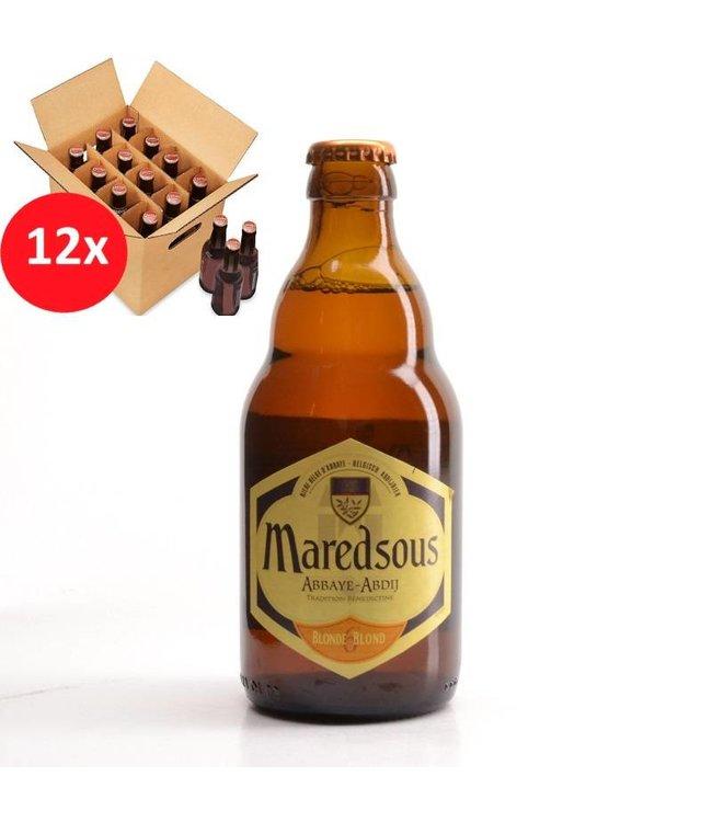 SET VAN 12    l-------l Maredsous Blond 12 Pack