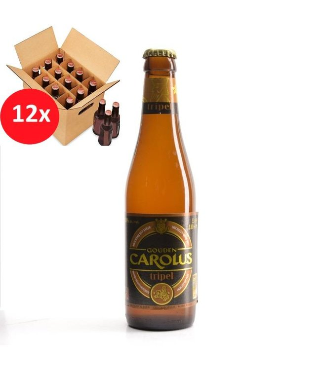 SET VAN 12    l-------l Gouden Carolus Tripel 12 Pack