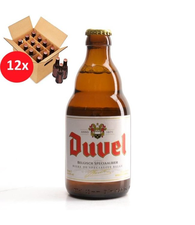 SET VAN 12    l-------l Duvel 12 Pack