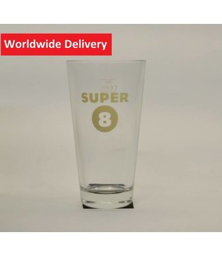 Super 8 Beer Glass - 33cl.
