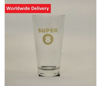 Super 8 Beer Glass - 33cl.