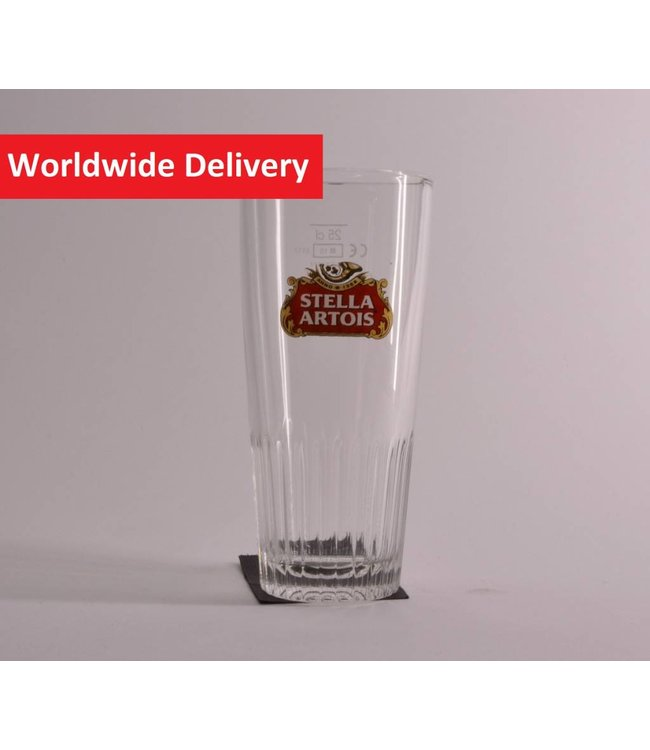 Stella Artois Ribbed Beer Glass - 25cl.