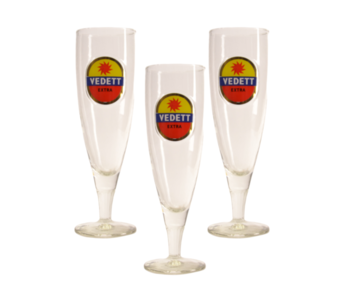 Vedett on Foot Beer glass - 33cl (Set of 3)
