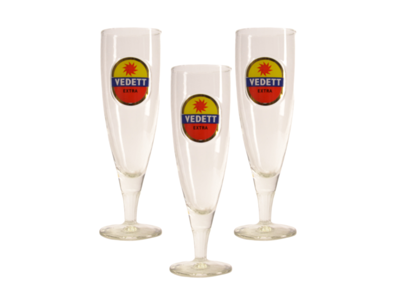 Gbol Vedett on Foot Beer glass - 33cl (Set of 3)