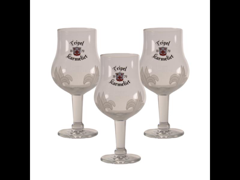 Gbol Tripel Karmeliet Beer glass - 33cl (Set of 3)
