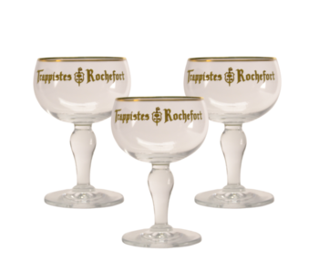 Trappistes Rochefort Beer glass - 33cl (Set of 3)